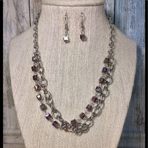 Paparazzi necklace in Silver and Purple
